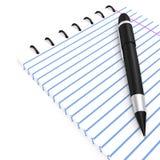 Pen en notitieboekje Stock Foto
