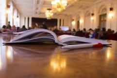 Pen en notitieboekje Royalty-vrije Stock Foto's