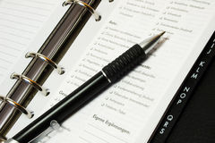 Pen en Organisator Royalty-vrije Stock Foto's