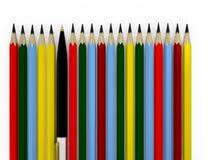 Pen en potlood Royalty-vrije Stock Afbeelding