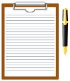 Pen en spatie. stock illustratie