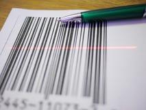 Pen en streepjescode Stock Afbeeldingen