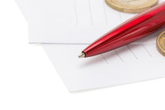 Pen at envelope Stock Photography