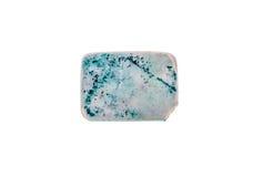Pen Eraser di gomma blu e bianco anziano e usato fotografie stock