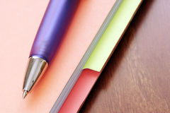 Pen on Files Stock Photography