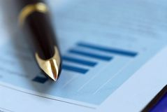Free Pen Finance Chart Stock Photos - 1148363