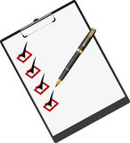 Pen and folder for papers. Stock Photography
