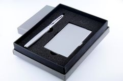 Pen in gift box Stock Images