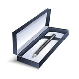 Pen with gift box Stock Photos