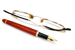 Pen and glasses #3 Stock Image