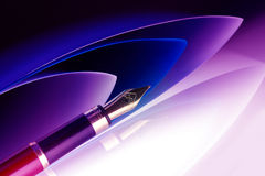 Pen with golden nib Royalty Free Stock Images