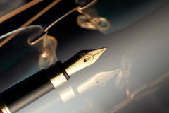 Pen with golden nib Royalty Free Stock Image