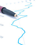 Pen on Graph Stock Images