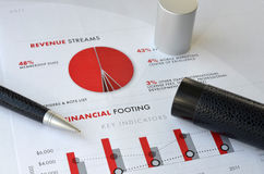 Pen and graph Royalty Free Stock Photography