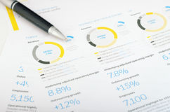 Pen and graph Royalty Free Stock Image