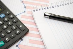 Office supplies for use in financial matters Stock Images