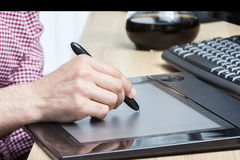 Pen and graphics tablet Stock Image
