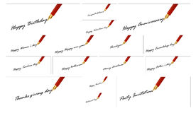 Pen greeting cards Stock Photography