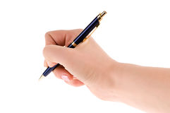 Pen in hand Royalty Free Stock Photo