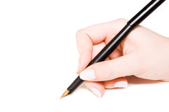 Pen and hand Royalty Free Stock Photo