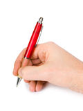 Pen in hand Royalty Free Stock Photos