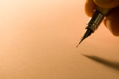 Pen with hand Royalty Free Stock Photos