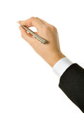 Pen in hand Stock Image