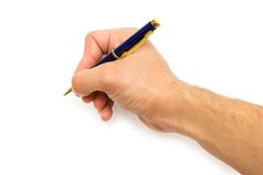 Pen in the hand Stock Photos