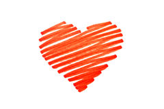 Pen heart stock photos