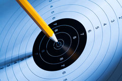 The pen hits the target Royalty Free Stock Images