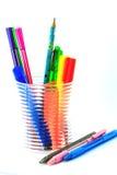 Pen in holder stock image