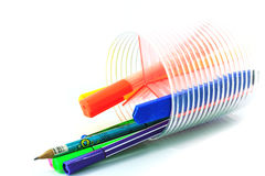 Pen in holder Royalty Free Stock Image