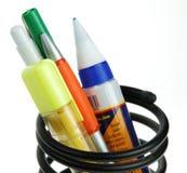 Pen holder stock image