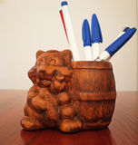 Pen holder Royalty Free Stock Photos