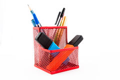 Pen holder Royalty Free Stock Photography
