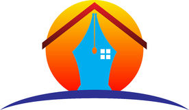 Pen home logo Stock Photography