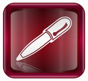 Pen icon red Royalty Free Stock Photography