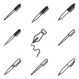 Pen Icon Set Photographie stock