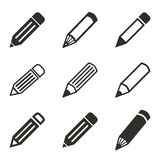 Pen Icon Set Images stock