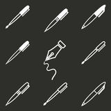 Pen Icon Set Photos stock