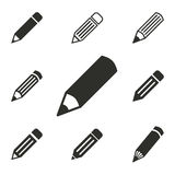 Pen icon set. Pen vector icons set. Illustration isolated for graphic and web design Stock Photo