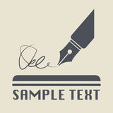 Pen icon or sign Stock Photography