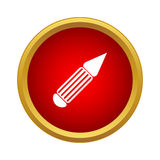 Pen icon in simple style Royalty Free Stock Photography