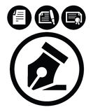 Pen icons Stock Photography