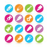 Pen icons Royalty Free Stock Image