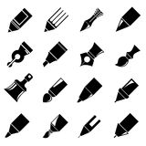 Pen icons Stock Images