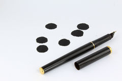 Pen and ink blot Royalty Free Stock Photos