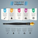 Pen, ink,  education icon. Business infographic. Pen, ink,  education icon Business infographic Vector eps 10 Stock Images