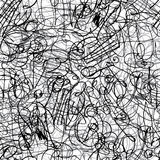 Pen ink strokes seamless pattern royalty free illustration