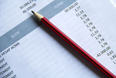 Pen On Invoice Royalty-vrije Stock Afbeelding